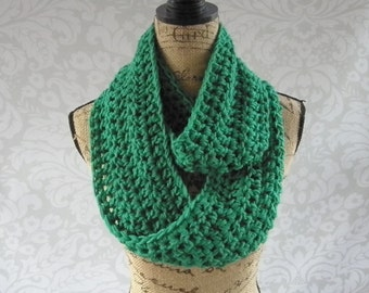 Ready To Ship Infinity Scarf St Patrick's Day Green Fall Winter Women's Accessory Infinity