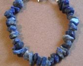 Lapis Lazuli Natural Stone Chip Bracelet
