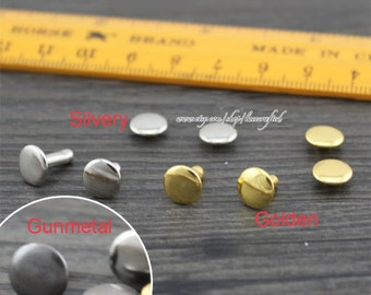 100set 8mm Golden Silvery Gunmetal Rivets Button and Studs for Handbag making,Copper double cap Rivets