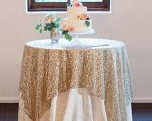 Sequin Tablecloth Overlays