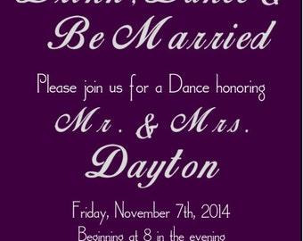 Wedding Dance Invitation