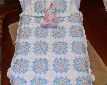 American Girl Bedding - Crochet Bedding Set