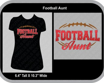 Football Aunt Silhouette SVG Cutter Design INSTANT DOWNLOAD