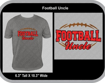 Football Uncle Silhouette SVG Cutter Design INSTANT DOWNLOAD