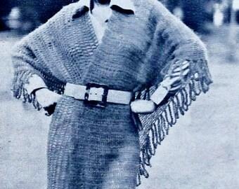 Shawl Vintage Crochet Pattern Download