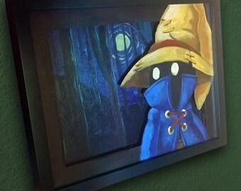 "Final Fantasy IX (9) ""Vivi"" 3d Shadowbox Canvas Painting"