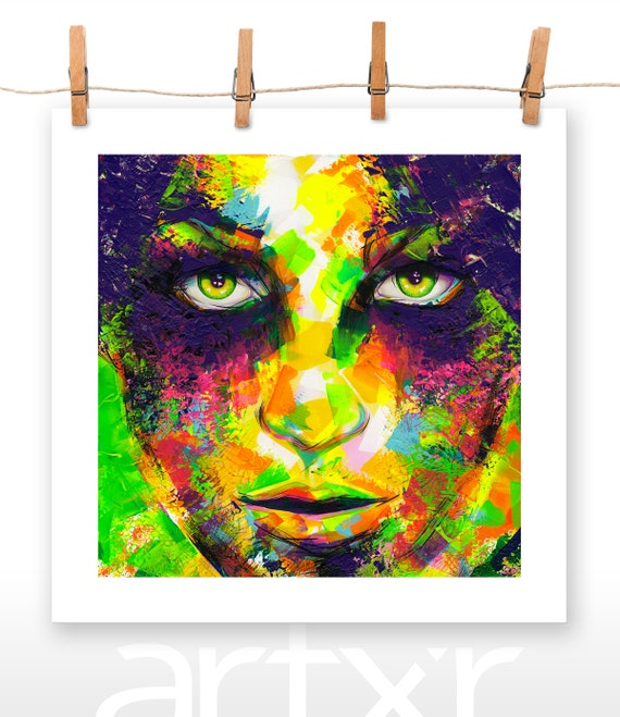 EYE SHADOWS 20x20 Poster Print of an Original Acrylic Painting