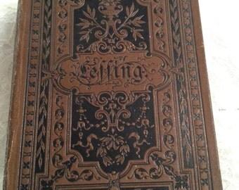 "REDUCED Rare German Book, ""Poetische Und Dramatische Werke"" (Poetry and Dramatic Works) of G.E. Lessing German Writer, Poet, Philosopher."