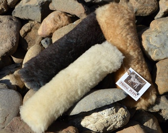 Dog Fetch Toy- The Primal Stick - Optional Squeaker- Real Sheepskin - by Primal Puppy