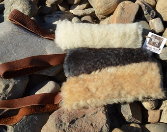 Dog Tug Toy- Durable - Real Sheepskin by Primal Puppy