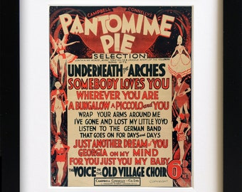 Vintage Sheet Music 'Pantomime Pie' Song Book