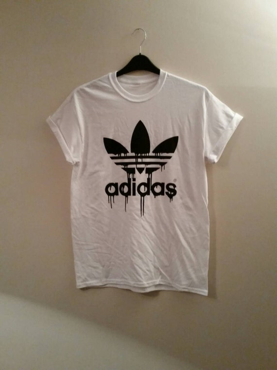 new product dbbe5 fc6ce 85%OFF Brand new on trend dripping adidas t shirt top by mysticclothing