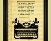 Friedrich Nietzsche Quote, Old Fashioned Typewriter Illustration, Literary Art Print, Intellectual Individual Quote