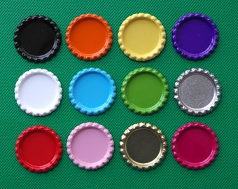 2500 Two-Side Colorful Flattened Beer Bottle Caps For DIY Crafts Jewelry Accessories,Hair Bows,12 Colors,You Choose the Colors,Without Holes