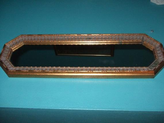 Vintage dor accent troit miroir miroir octogonal dore mince for Miroir etroit