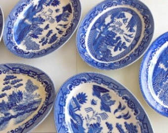 Made in Japan Blue Willow Oval Platter Large Serving Plate
