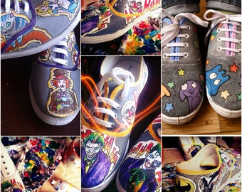 Personalized handpainted shoes, custom sneakers with theme you choose