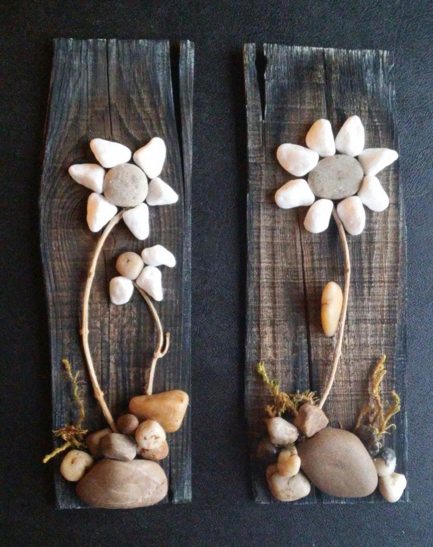 Pebble art rock art pebble art flowers rock art flowers for River rock craft ideas