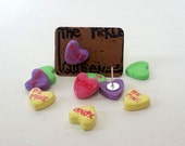 Conversation Candy Heart Studs/Posts