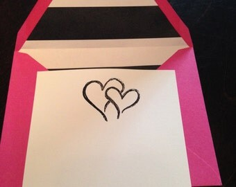 Personalized STRIPES Stationary Set: 10 Envelopes and 10 Cards