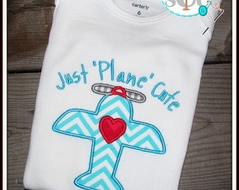 Just Plane Cute Personalized Valentines Shirt