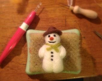 Needle Felt Christmas snowman