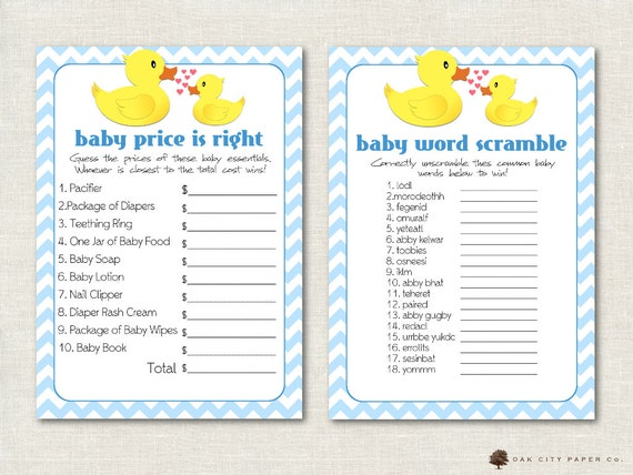 Rubber Ducky Baby Shower Games Rubber Duck By