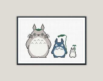 My Neighbour Totoro & Co. - Ghibli Cross Stitch - PATTERN