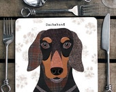 Dachshund personalised placemat/coaster