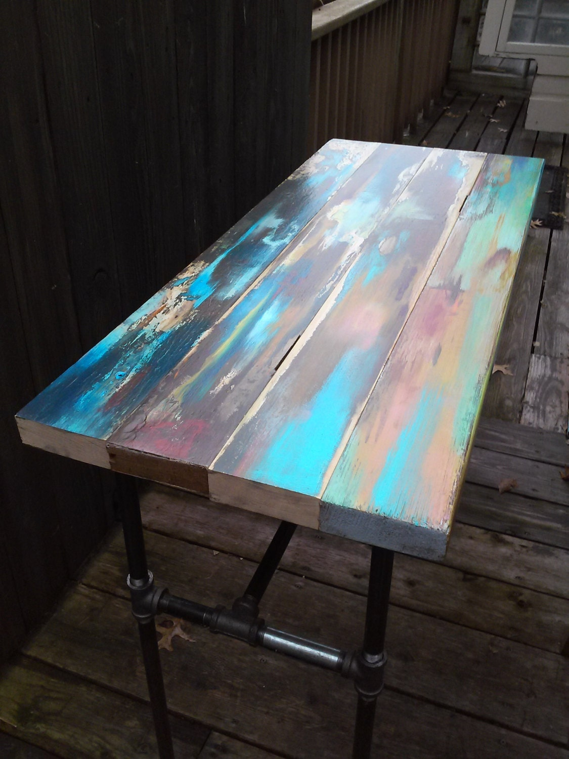Reserved For Patricia Balance Due For Barn Wood Side Table