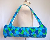 Yoga mat bag from reclaimed materials - Hot yoga tote for women - Wide shoulder sling excercise bag - Handmade in Eugene Oregon