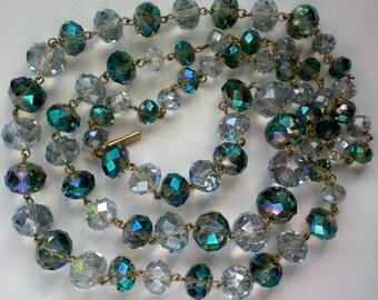 Kenneth Cole Blue Swarovski Crystal Necklace - 3801