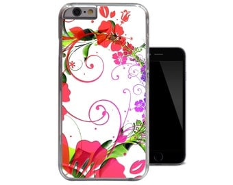 Pretty Floral Red Green White Elegant Flowers Girly iPhone 6 case iPhone 5 5s case iPhone 5c case iPhone 4 4s case (A83)