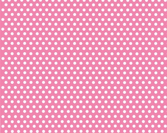 Pink with white mini polka dots craft  vinyl sheet - HTV or Adhesive Vinyl -  polka dot pattern HTV2311
