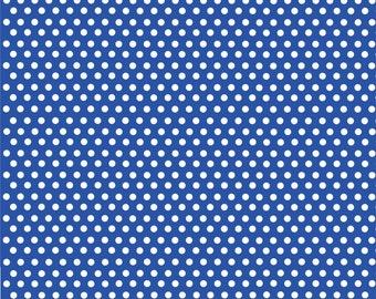 Blue with white mini polka dots craft  vinyl sheet - HTV or Adhesive Vinyl -  polka dot pattern HTV2326