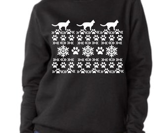 Crazy Cat Christmas Sweater