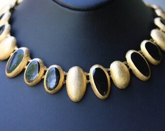 Wonderful Ann Klein Estate Vintage Enamel Choker and Earrings