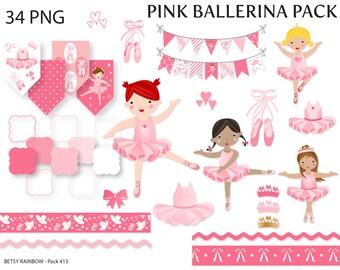 Ballerina clipart, pink ballerina, clipart, clip art, ballerina, danse, ballet - BR 413
