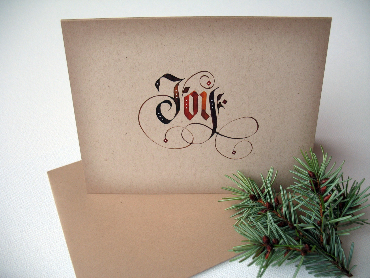 Christmas joy card pack holiday cards simple