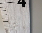 Custom Rustic Baby Growth Chart w/ Distressed Painted Finish