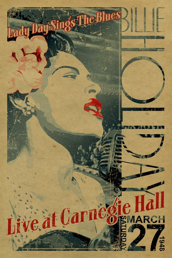 Billie Holiday Poster. Lady Day Sings the Blues live at