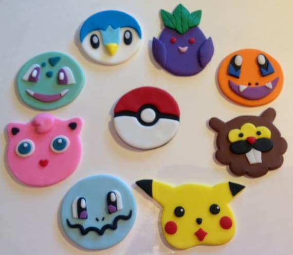 Pokemon Fondant Cupcake Toppers Set Of 18 By Afterhourscakery