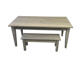 Grey Farmhouse Table / Farm Table / Harvest Table / Rustic Table