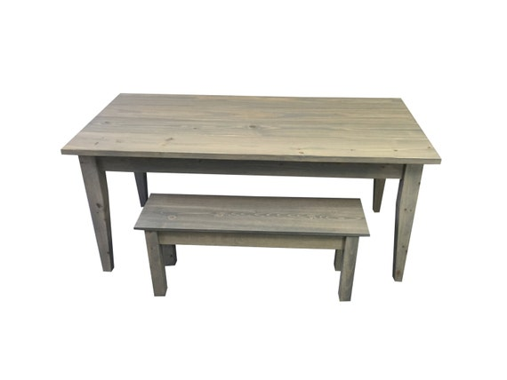 Grey Farmhouse Table Farm Table Harvest Table Rustic