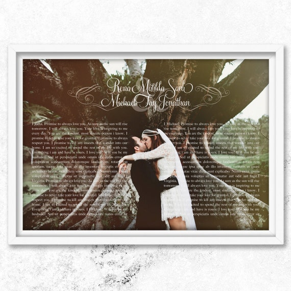 Wedding vows, paper anniversary gift for him, wedding vow art, 1st anniversary for husband, 1st wedding anniversary, 1st anniversary gift