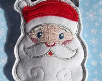 Santa Silverware Holder Cutlery Holder One embroidered on Felt