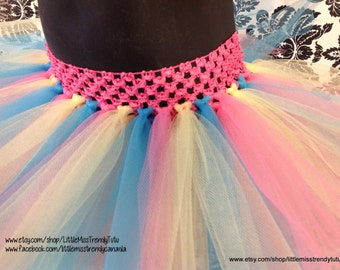 Easter Tutu,Pink Yellow Blue Tutu, Pastel Tutu, Rainbow Tutu, Soft Color Tutu Newborn to 6T Tutus, Easter Tutu, Spring Tutu