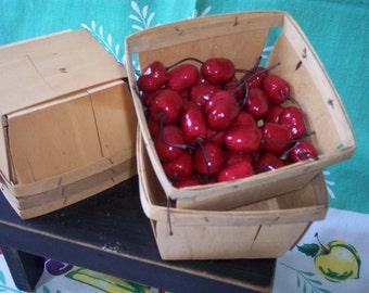 1 Quart Berry Basket – Set of 6 – Wooden Berry Basket – Farmers Market