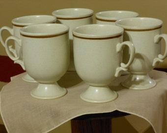 Set of Six Matching Vintage Coffee Mugs