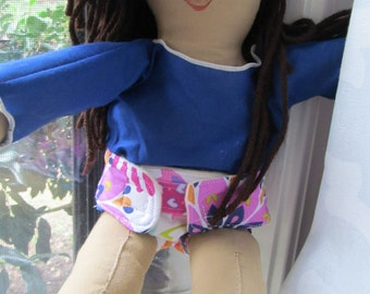 Baby Doll Diaper- Play Diaper-  doll diaper-toy diaper- baby clothes- american girl doll clothes- itty bitty baby clothes- pretend diaper